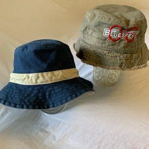 2 summer bucket hats small